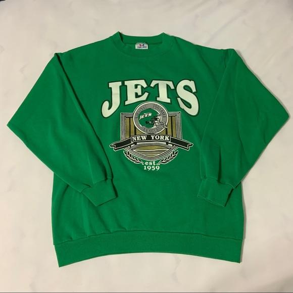 2aed5ae4 Vintage 90s NFL Football New York Jets Sweatshirt